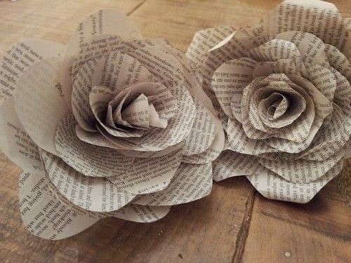 Crafting at the library paper flowers main branch nelson join us as we make paper flowers out of old book pages then create a beautiful wreath with the paper flowers all supplies are provided mightylinksfo